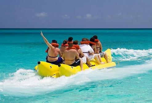 興奮のバナナボート