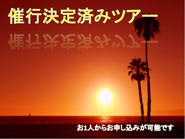 【お一人様歓迎】催行決定済みツアー