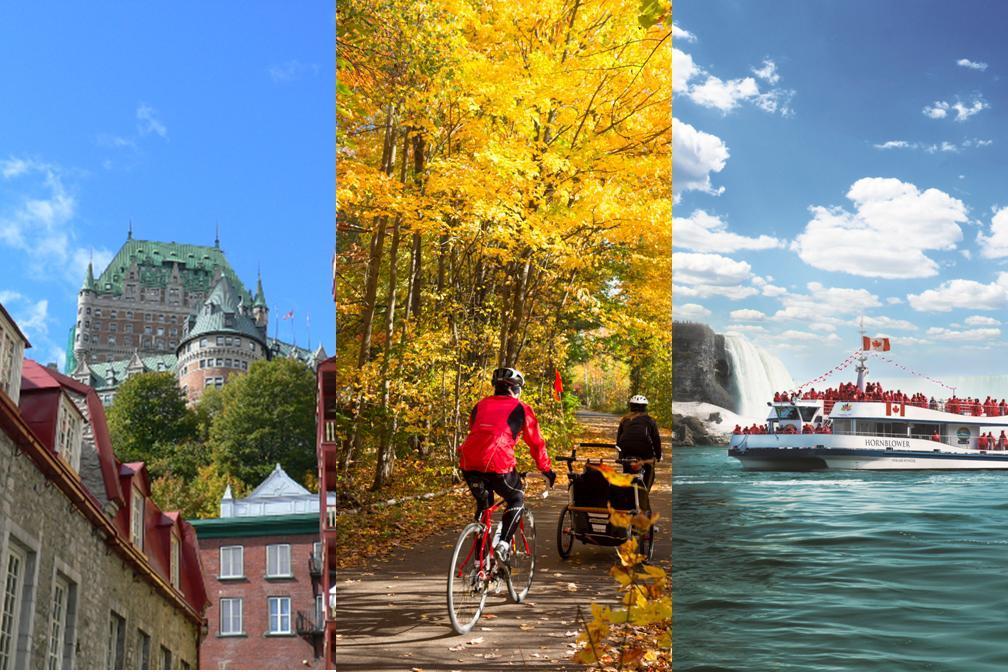 【秋・紅葉】モントリオール3泊でメープル街道&ケベック・シティ観光にナイアガラ2泊も! 5泊6日ツアー