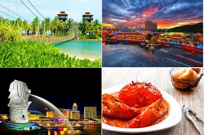 【シンガポール】セントーサ島と夜景観賞ツアー(昼食&チリクラブの夕食付き)