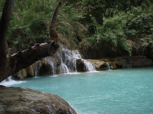 半日:クアンシー滝とモン族の村(日本語ガイド付)