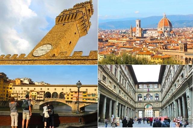 イタリア高速列車の旅! 花の都フィレンツェプライベートツアー(公認ガイド、ウフィッツィ美術館入場付)