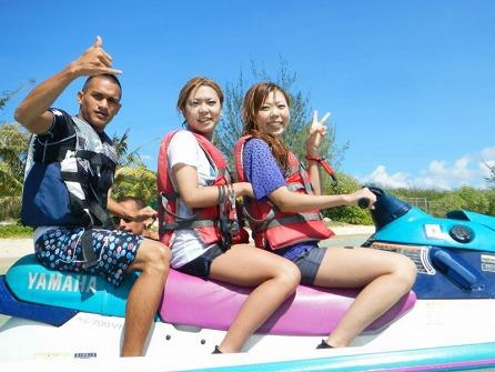【ちょこっとパック】ジェットスキー+バナナボート+体験ダイビング+ビーチシュノーケル+ランチ