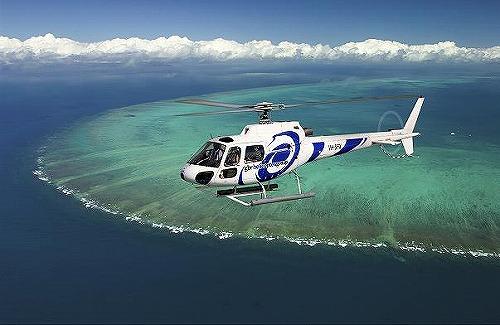 ヘリコプター遊覧飛行 グリーン島発 (クルーズ代金別途)