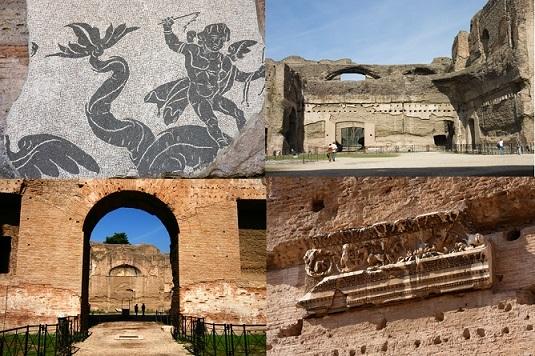 カラカラ浴場とアッピア旧街道をじっくり見学!古代ローマ観光午後ツアー(公認ガイド付)