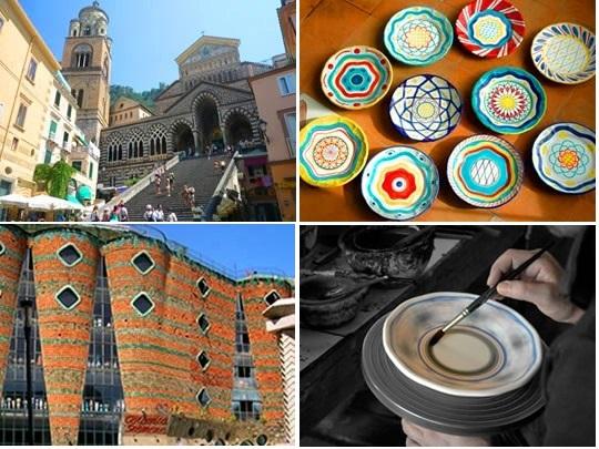 [プライベートツアー]ローマから行くアマルフィー海岸・伝統工芸チェラミカ工房立ち寄りプラン
