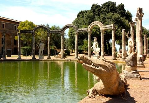 [プライベートツアー]ローマからの小都市! 世界遺産 ティボリのエステ家別荘とヴィッラ・アドリアーナへのツアー