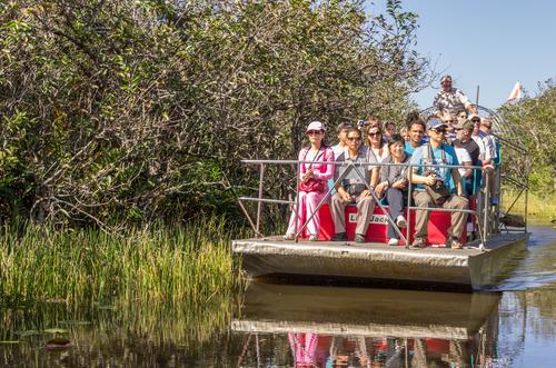 世界遺産エバーグレーズ大湿原を快走エアボートとせっかくだからドルフィンモールで激安アウトレットショッピング