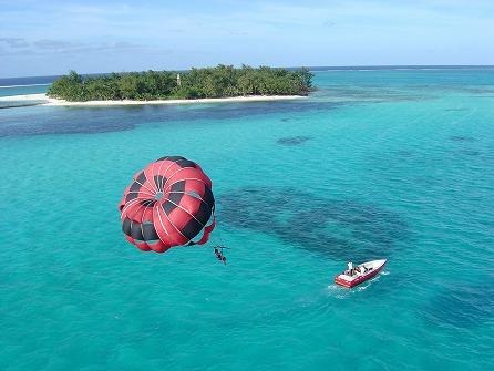 ビーシーサンスポーツ マニャガハ島パッケージツアー(マニャガハ島送迎+パラセーリング+ウェイクボード)