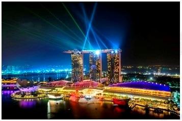 【シンガポール】ライトアップ・シンガポールナイトショー鑑賞
