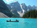 モレーン湖散策とエメラルド湖カヌー・ピクニック
