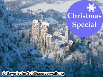[みゅう]【11月24日-12月20日限定】ノイシュヴァンシュタイン城、世界遺産ヴィース教会とバートテルツのクリスマスマーケット