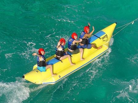 ビーシーサンスポーツ マニャガハ島パッケージツアー(マニャガハ島送迎+バナナボート+ウエイクボード)