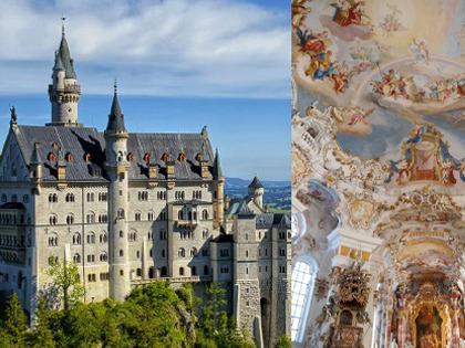 [みゅう]ノイシュヴァンシュタイン城と世界遺産ヴィース教会1日観光