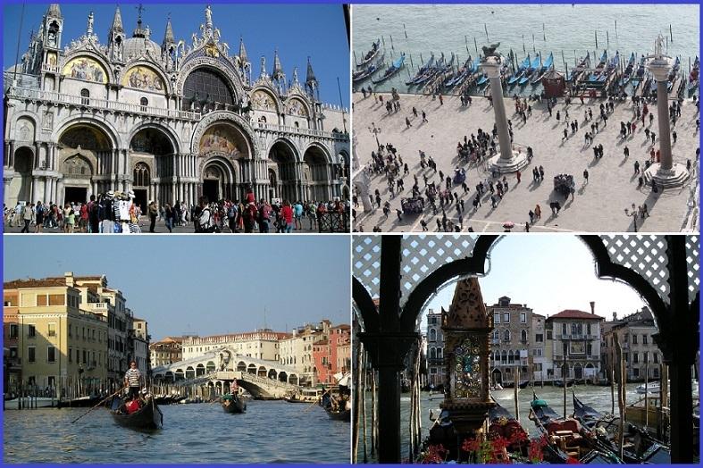 イタリア高速列車の旅! 水の都ベネチアでゴンドラクルーズ(ローマ発着)