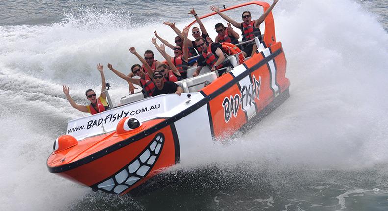 スリル満点!BAD FISHY スピードボート