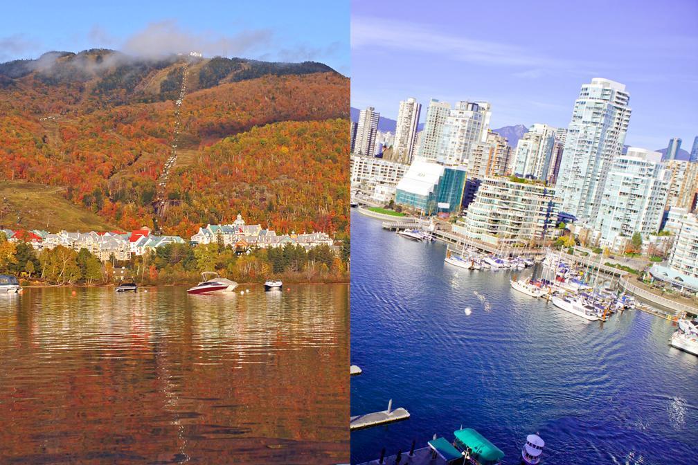 【秋・紅葉】カナダの紅葉を楽しむ!モントリオールとバンクーバー 5泊6日 ローレンシャン高原1日観光付