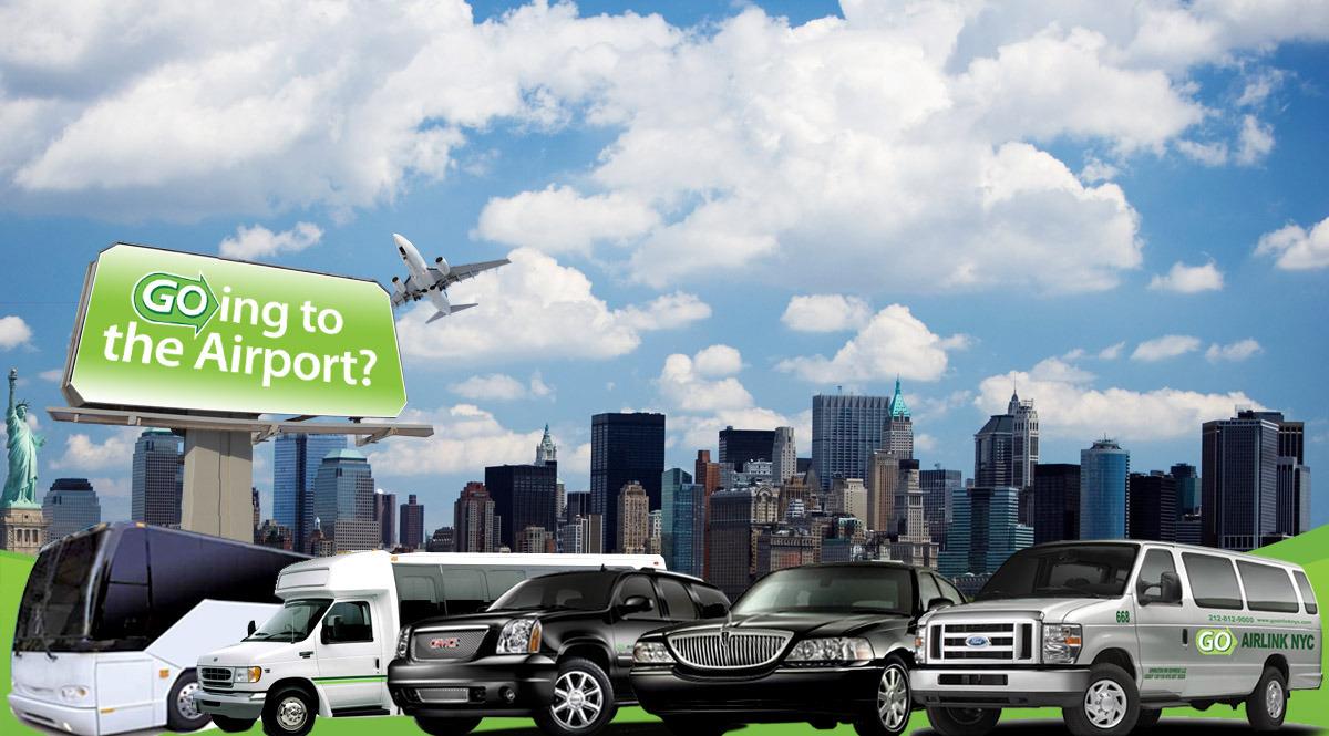 JFK, EWR, LGA空港送迎 【貸切専用車 英語ドライバー】 (ホテル→空港) 車種3人〜13人乗りまで!