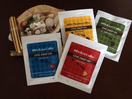 【コーヒー】100%ハワイ産♪ドリップコーヒー・バラエティパック(4袋入り)