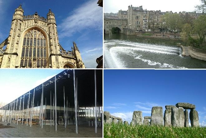 『イギリス地方巡り』世界遺産ストーンヘンジとバース観光1日ツアー(入場付き)