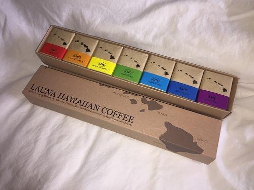 【お土産】地元ハワイアン諸島産コーヒー詰合せ(7種類)