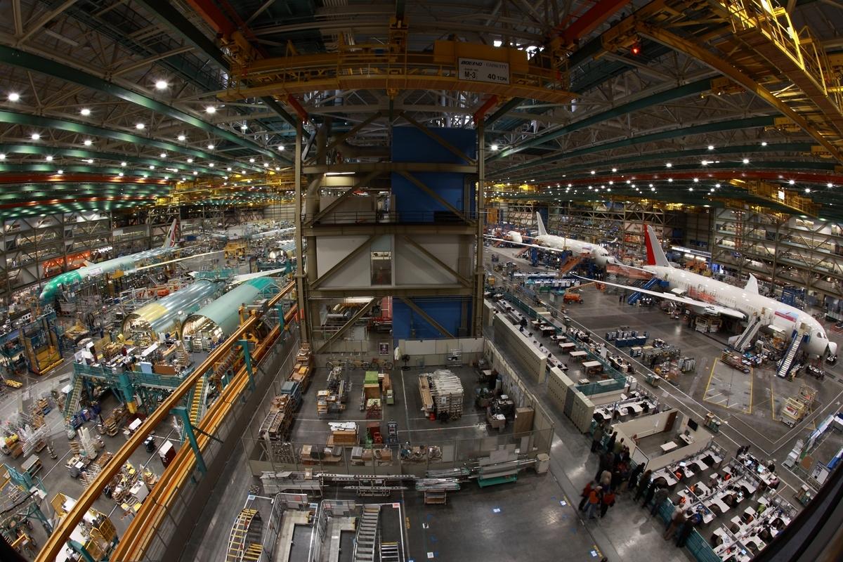 世界でたった1箇所!飛行機が作られる現場を見学!!ボーイング工場見学ツアー(アウトレット付き) (冬季)