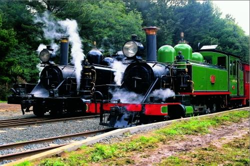 蒸気機関車とダンデノン丘陵で森林旅!