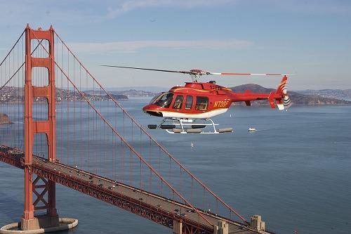 サンフランシスコ ヘリコプター遊覧飛行 & サウサリート観光ツアー