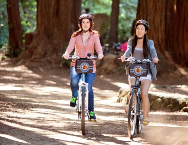 自転車で行くゴールデンゲートブリッジと夕日鑑賞