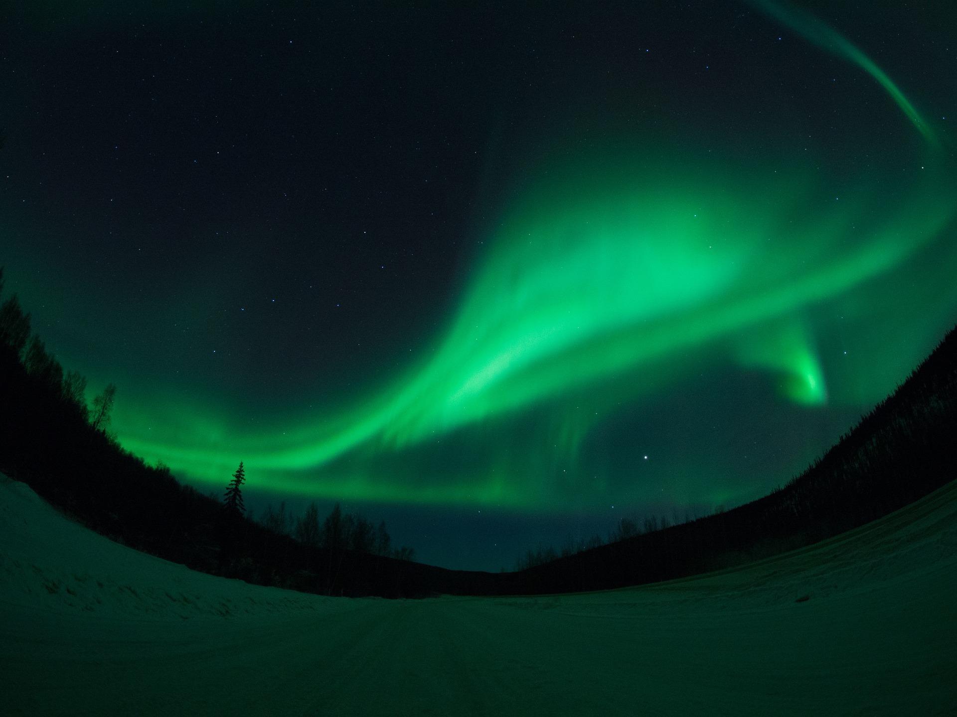 オーロラを求めて! 冬のアラスカ4日間 チェナ温泉滞在コース(スタンダード)