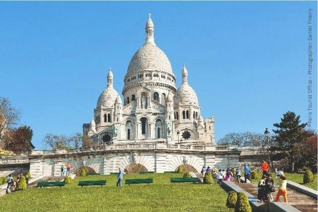 [マイバス]モンマルトル散策付き! パリ市内観光観光午前(カフェランチ付)