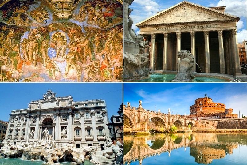 【公認ガイド、ランチ、午後市内観光付き】バチカン美術館と世界遺産を歩いて発見! ローマ市内1日観光