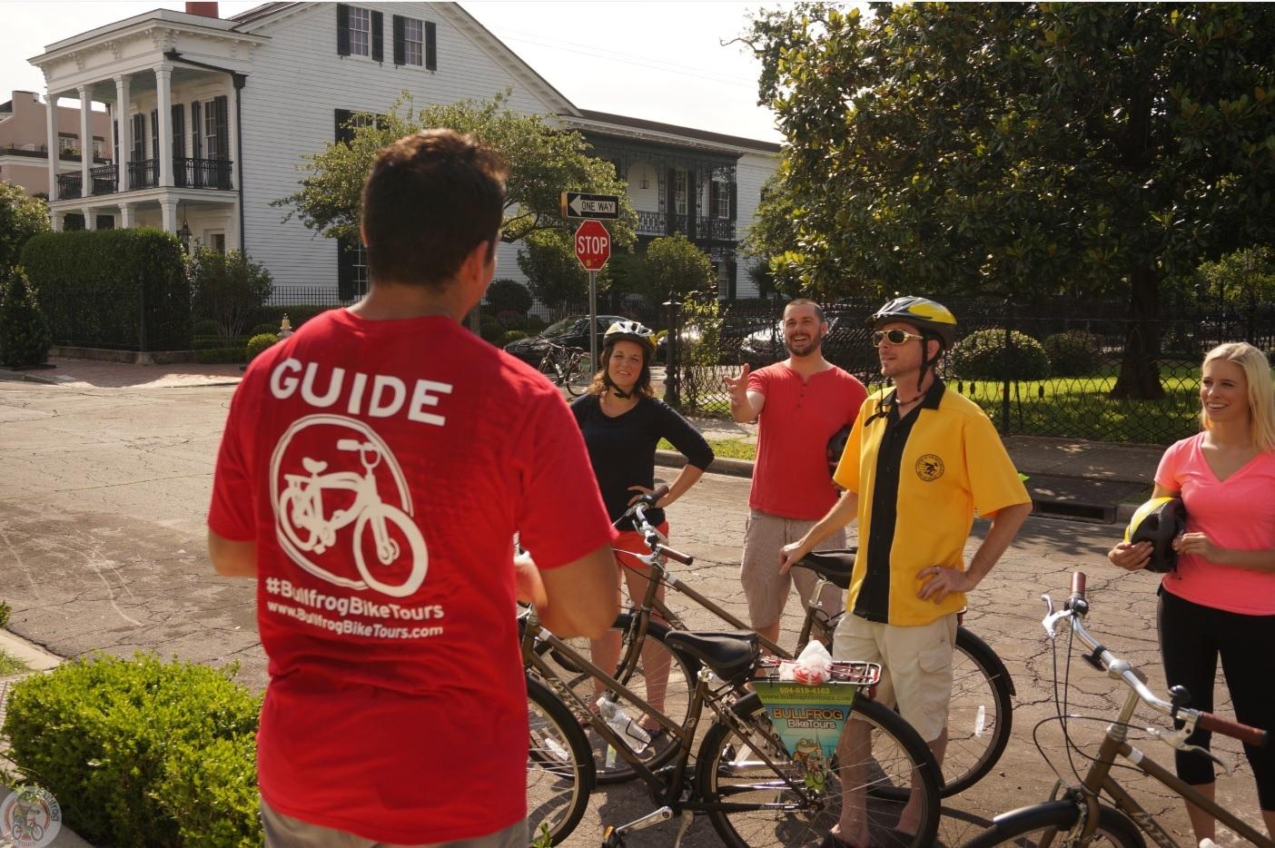 自転車で快適に! フレンチ・クォーター & ガーデン・ディストリクト ツアー