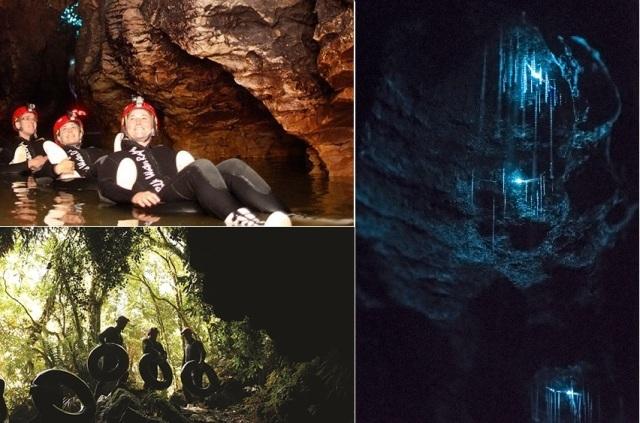 ブラック・ウォーター・ラフティングと土ボタル洞窟ツアー(英語ガイド/オークランド発着orロトルア着)