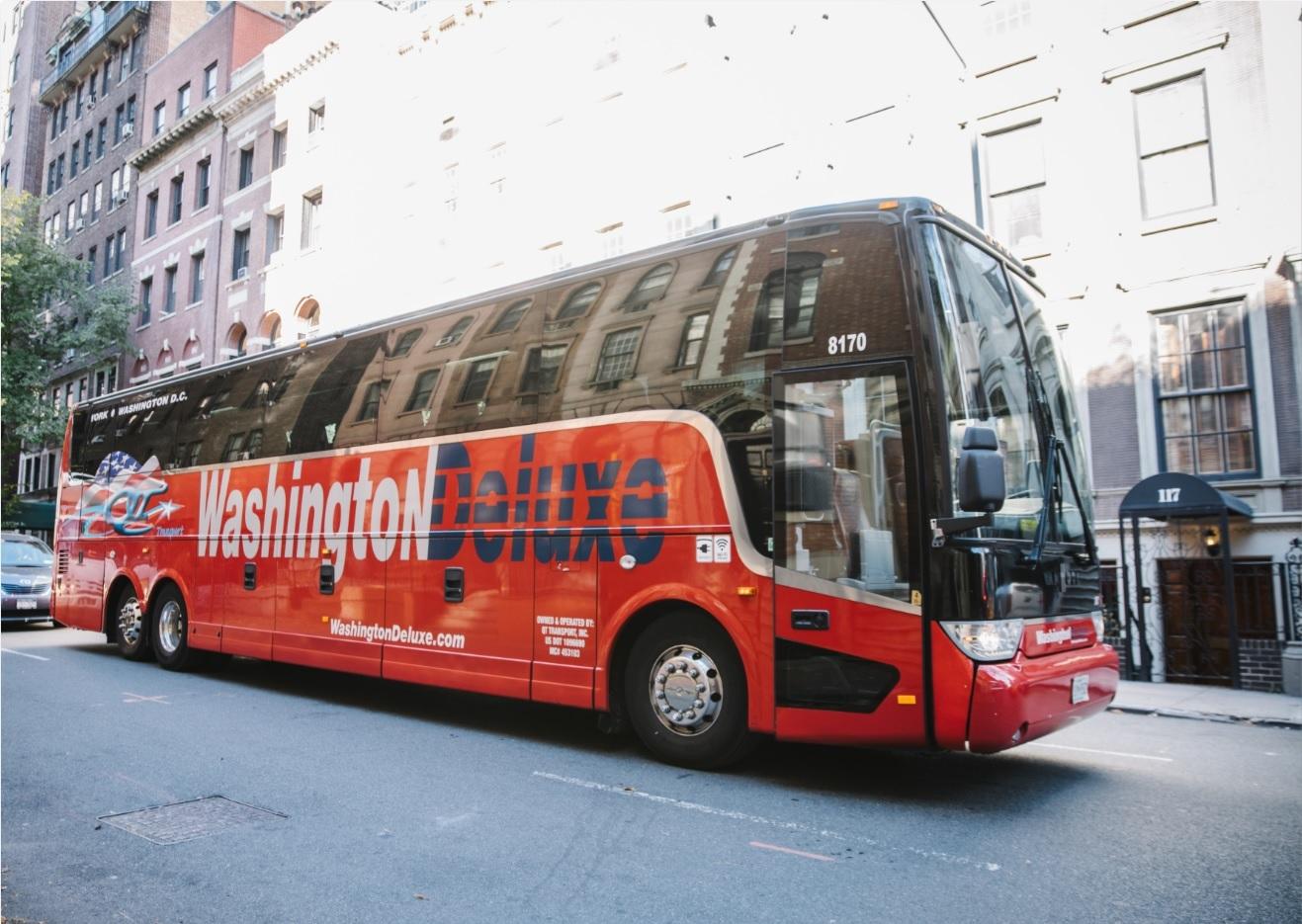 ニューヨーク → ワシントンD.C.間 シャトルバス