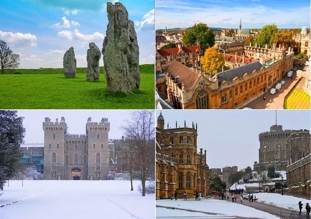 12月25日限定:ウィンザー、オックスフォード、エーヴベリー・ストーン・サークル(伝統的なクリスマスランチ付き)(英語)
