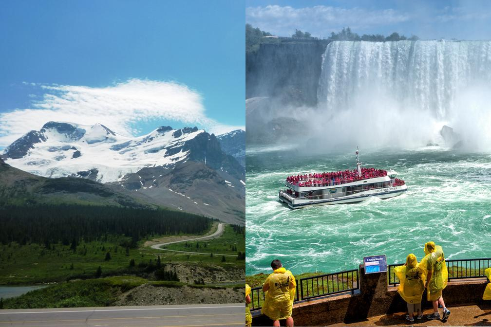 カナダ2大大自然をめぐる!ロッキー&ナイアガラの滝 4泊5日 (両都市とも観光付き)