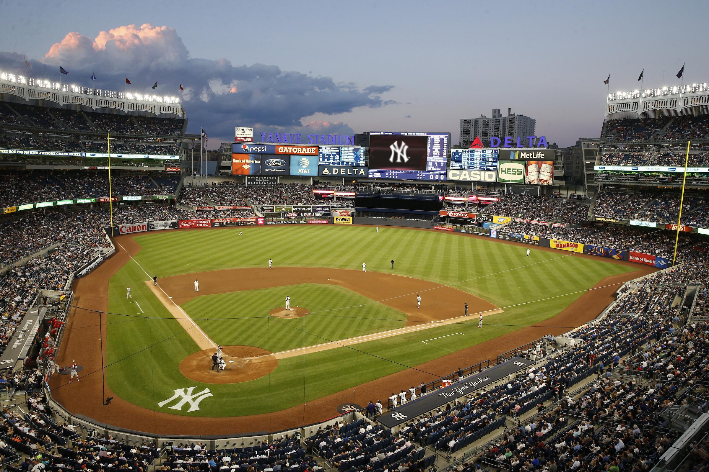ニューヨーク野球観戦ツアー (ヤンキース戦:1階席 アウトフィールド 外野エリア)