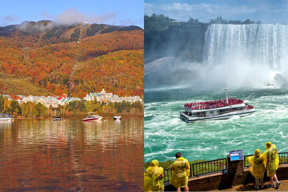 【秋・紅葉】カナダの紅葉を楽しむ!モントリオールとナイアガラ4泊5日 メープル街道にナイアガラの滝観光