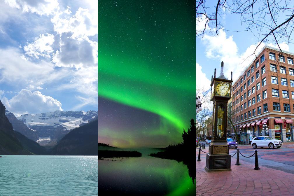 ☆カナダ西部3都市 人気コース☆ 夏オーロラとカナディアンロッキー、バンクーバー 7泊8日
