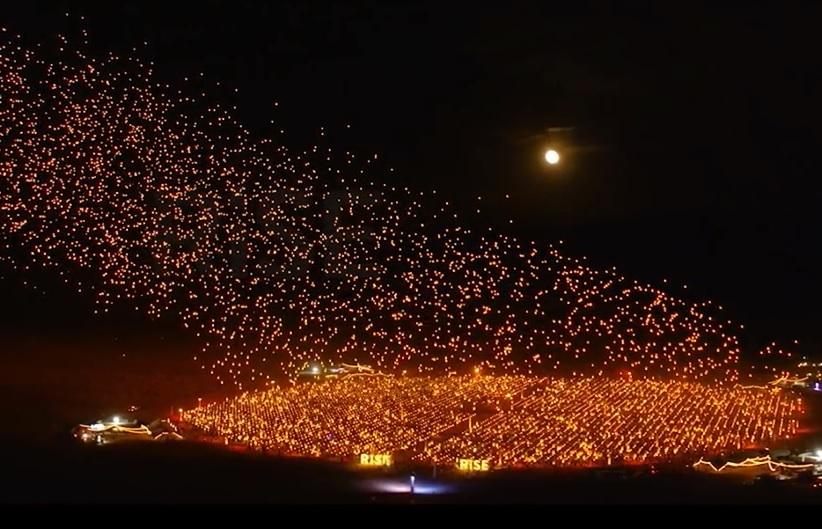 【ネバダ観光サービス】10/4限定 ラプンツェルの世界を砂漠で!最大級ランタン フェスティバルに参加!セブンマジックマウンテン付き