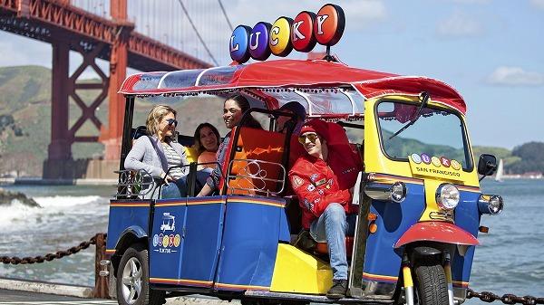 Tuk Tukで巡るサンフランシスコ市内観光ツアー