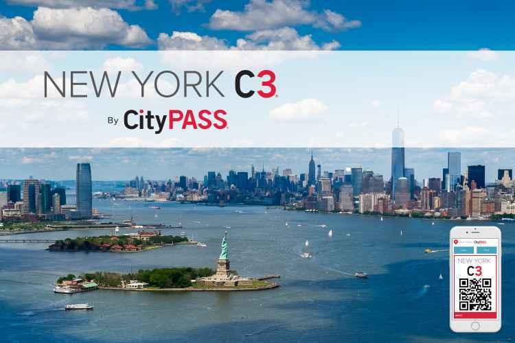ニューヨーク・C3パス 大人気の観光3箇所入場料が割引きになるクーポン!!
