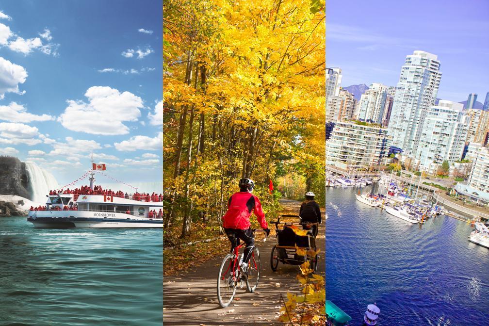 【秋・紅葉】メープル街道モントリオールとナイアガラ&バンクーバー6泊7日(ローレンシャン観光・ナイアガラの滝観光つき)