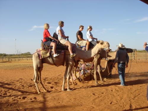 ラクダで行くサンセットツアー