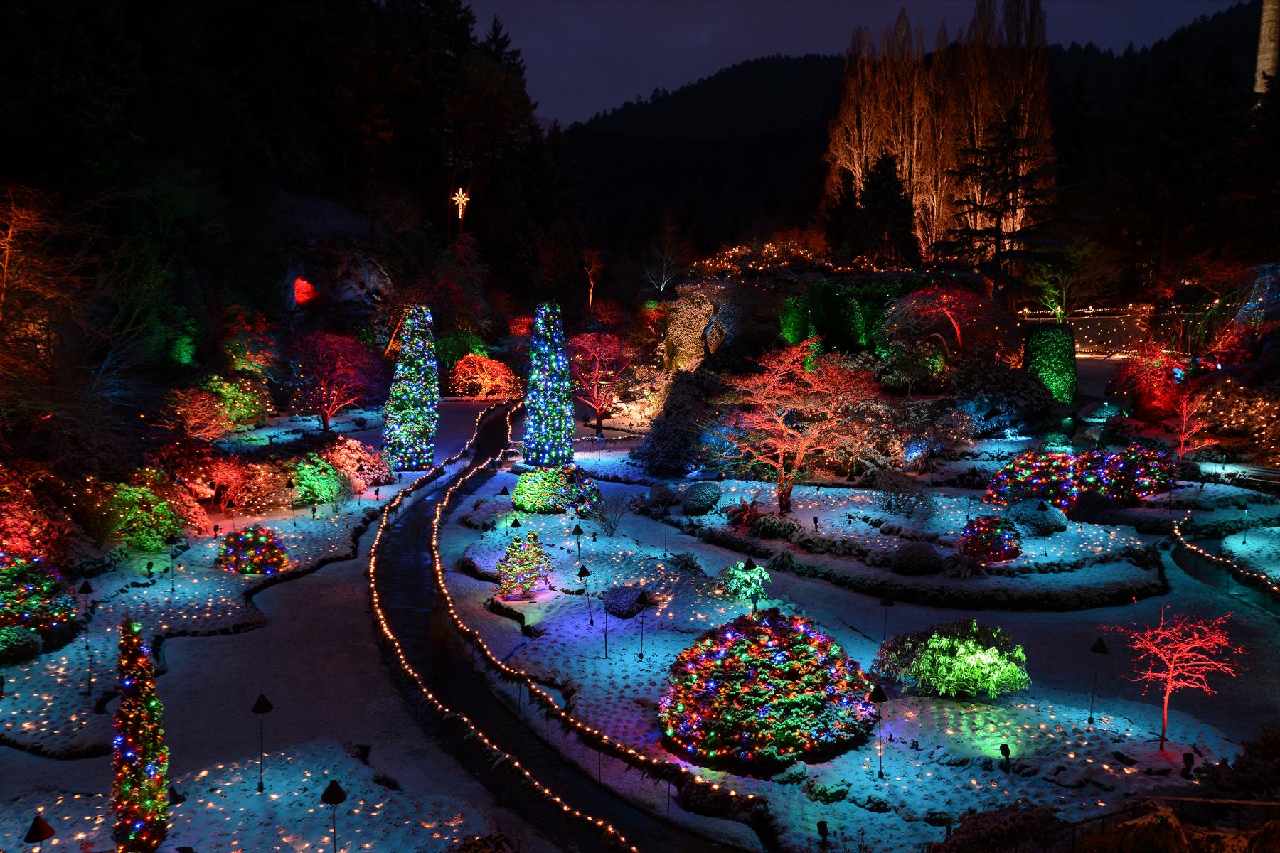 クリスマス in ビクトリアとブッチャードガーデン