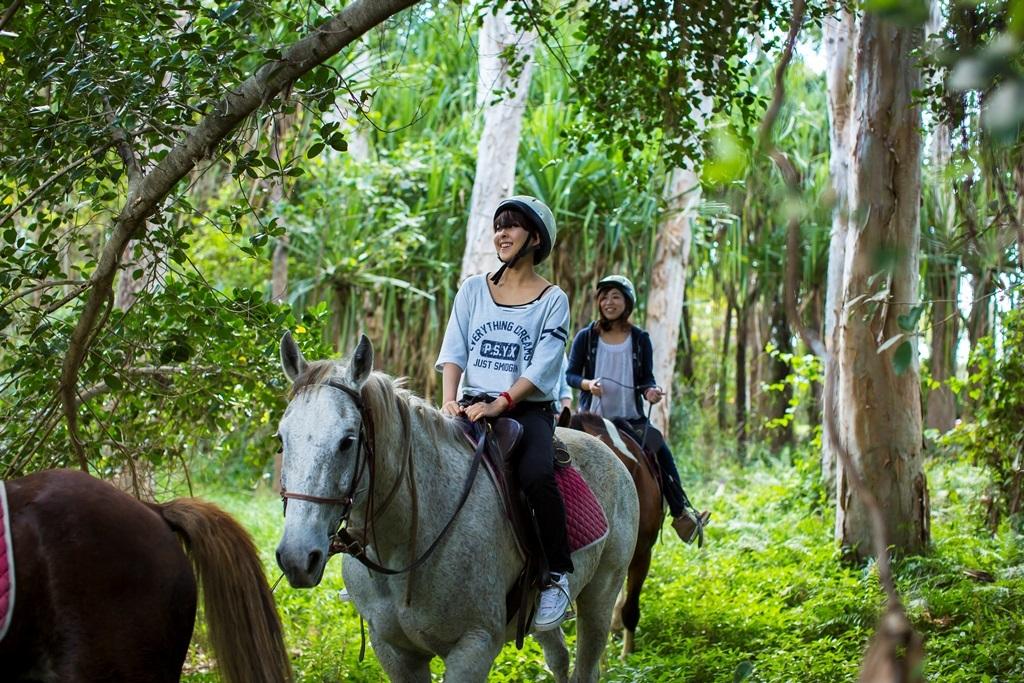 ブレイジングサドルズ 半日乗馬ツアー 4歳から参加可能!