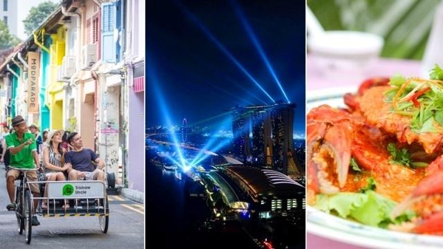 【レトロとグルメな万華鏡ナイト】トライショー + 光のショー鑑賞 + レッドハウスでの夕食付