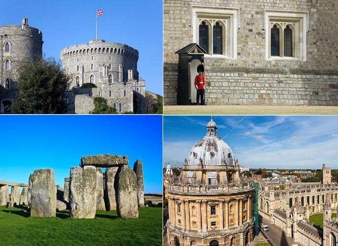 [入場、パックランチ付]2大人気スポットに大学街も散策! ウィンザー、ストーンヘンジ、オックスフォード 観光1日ツアー