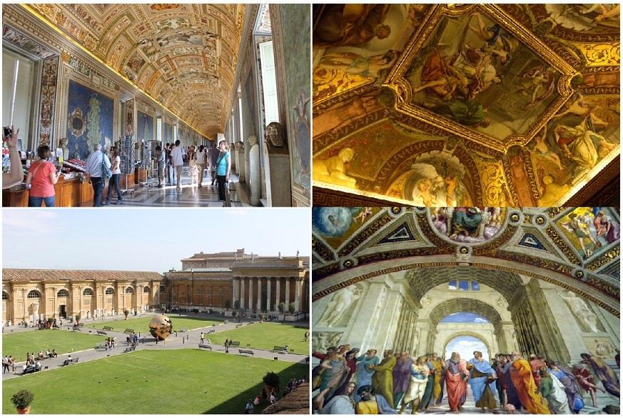 一般開館前に特別入場! バチカン美術館とシスティーナ礼拝堂、サン・ピエトロ大聖堂にも行く午前観光ツアー(公認ガイド付)